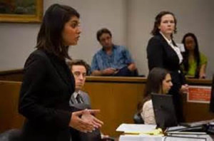 Courtrooms to classroom